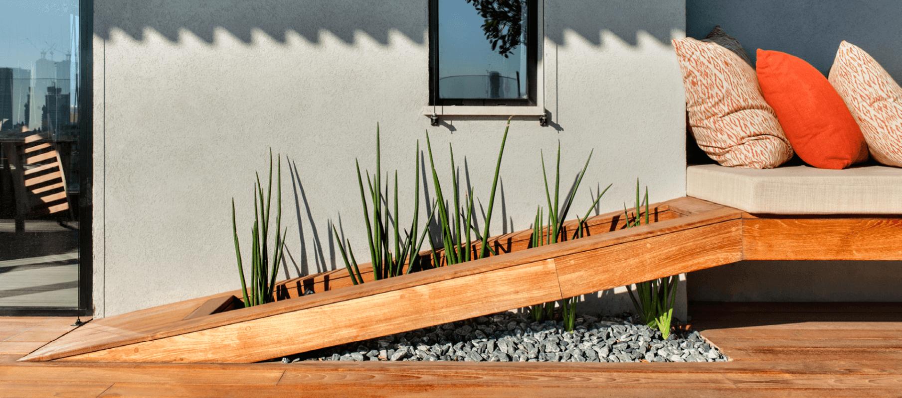 אדנית מיוחדת בגינה על גג
