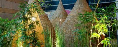 אלמנטים עיצוביים בגינה גג