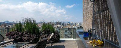 גינת גג מעוצבת בתל אביב