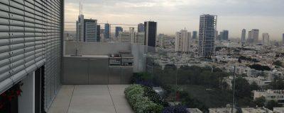 גינת מרפסת בתל אביב