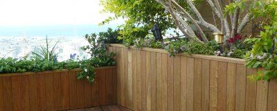 צמחיה מעוצבת בגינת גג