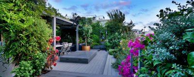 עיצוב מרפסת גג