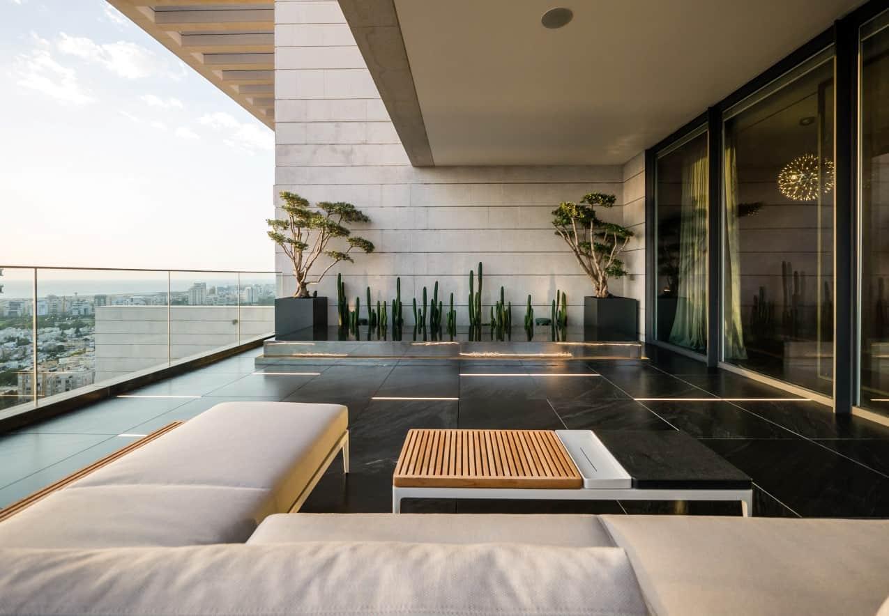 פרויטק עיצוב גינה על הגג
