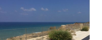 גינת גג עם תצפית לים