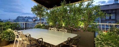 פינת אוכל בגינת גג