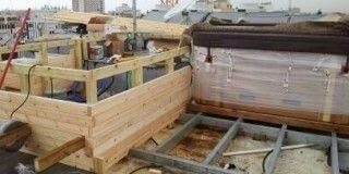תהליך בניית ג'קוזי בגינת גג