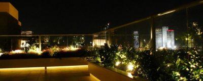 תאורה מעוצבת בגינת גג