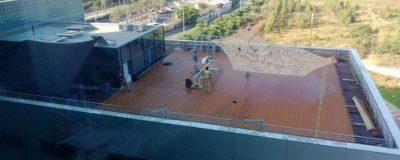 חיפוי בדק - עיצוב גינת גג