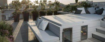 מערכת ישיבה בגינת גג