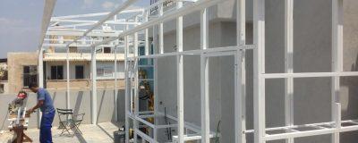 הקמת גינת גג בתהליך עבודה