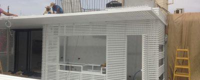 עיצוב גינת גג מפוארת