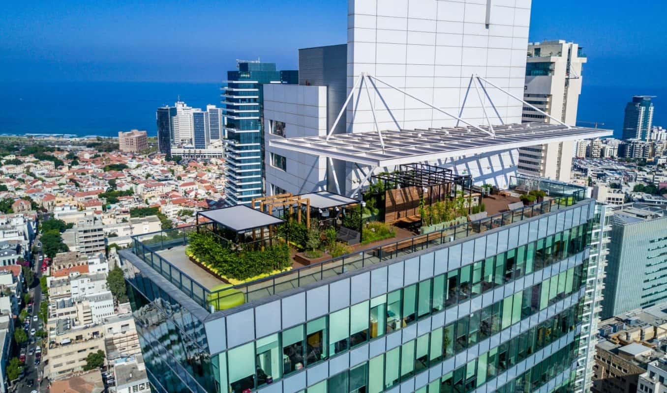 עיצוב גג של משרדי פייסבוק